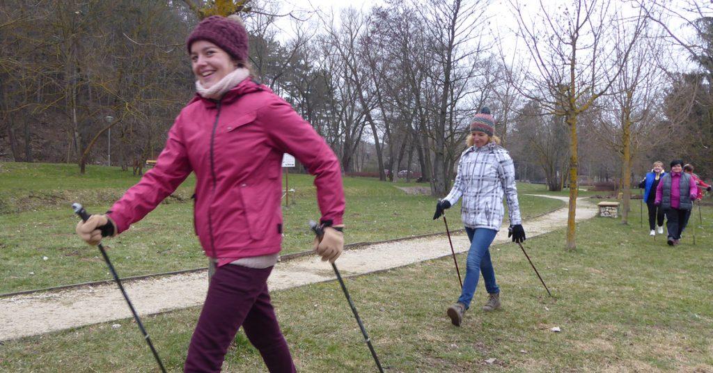 Első nordic walking mozdulatok