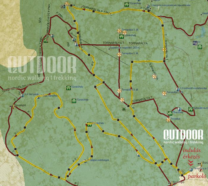 Gulya-domb térkép