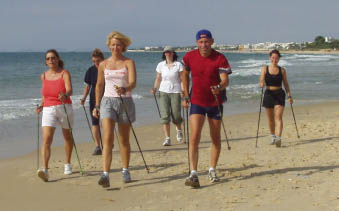 Tengerparti nordic walking